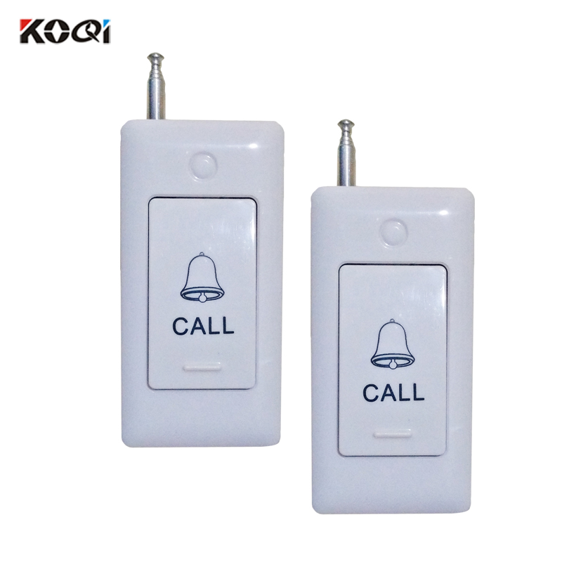 433.92mhz 200M In Open Area Distance Wireless Service Table Bell Call Button for Restaurant Bar Hospital