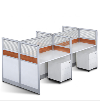 Cheap  Modern  modular 4 seat office workstation cubicle, office desk office cubicle shade