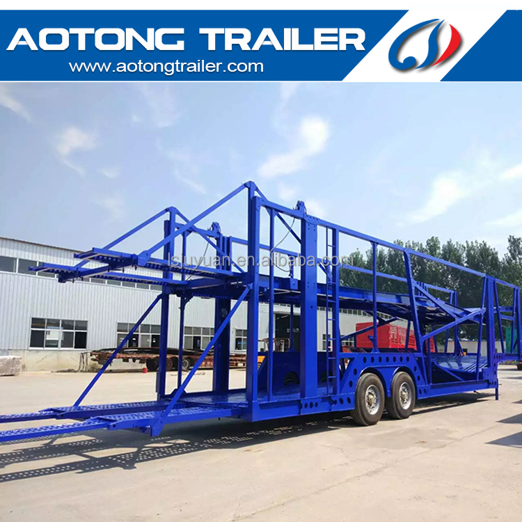 car transportation carrier haul semi trailer truck with 2 axle