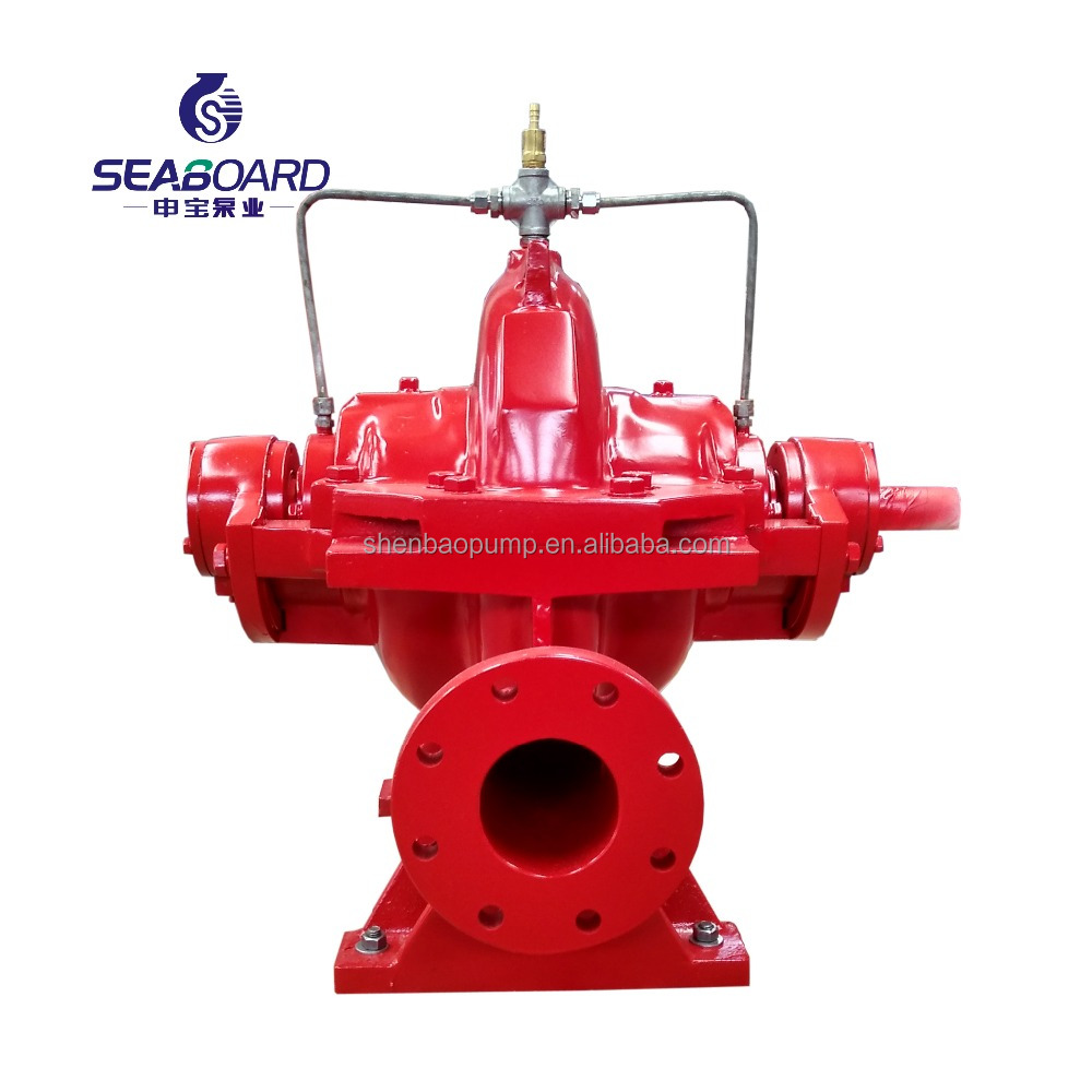 SBS125-290FG high pressure fire fighting single stage axially split volute casing double suction centrifugal pump