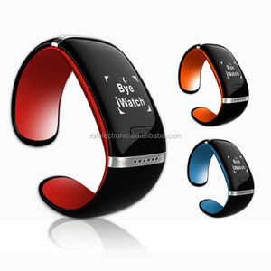 Fashion Women Ladies Smart Bracelet Watches Bluetooth 3.0 OLED Calls SMS Music Sync w/ Desk Holder Pedometer Anti-lost Function