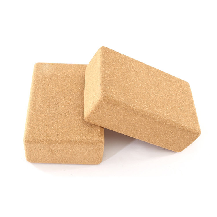 Kundenspezifischer Block-Strahl-Bambus-Yoga-Ziegelsteinkorken mit hoher Dichte