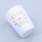 Festa de despedida suprimentos copo de plástico branco weeding party accessories bride cup