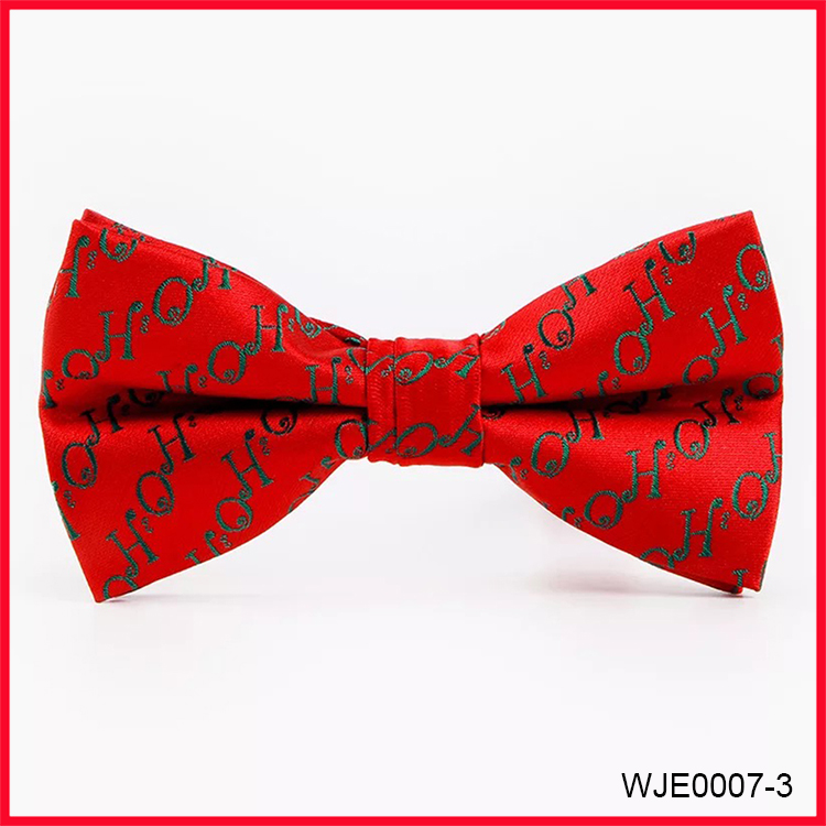 Christmas Gift Fashion Green Woven Bow Ties for Men