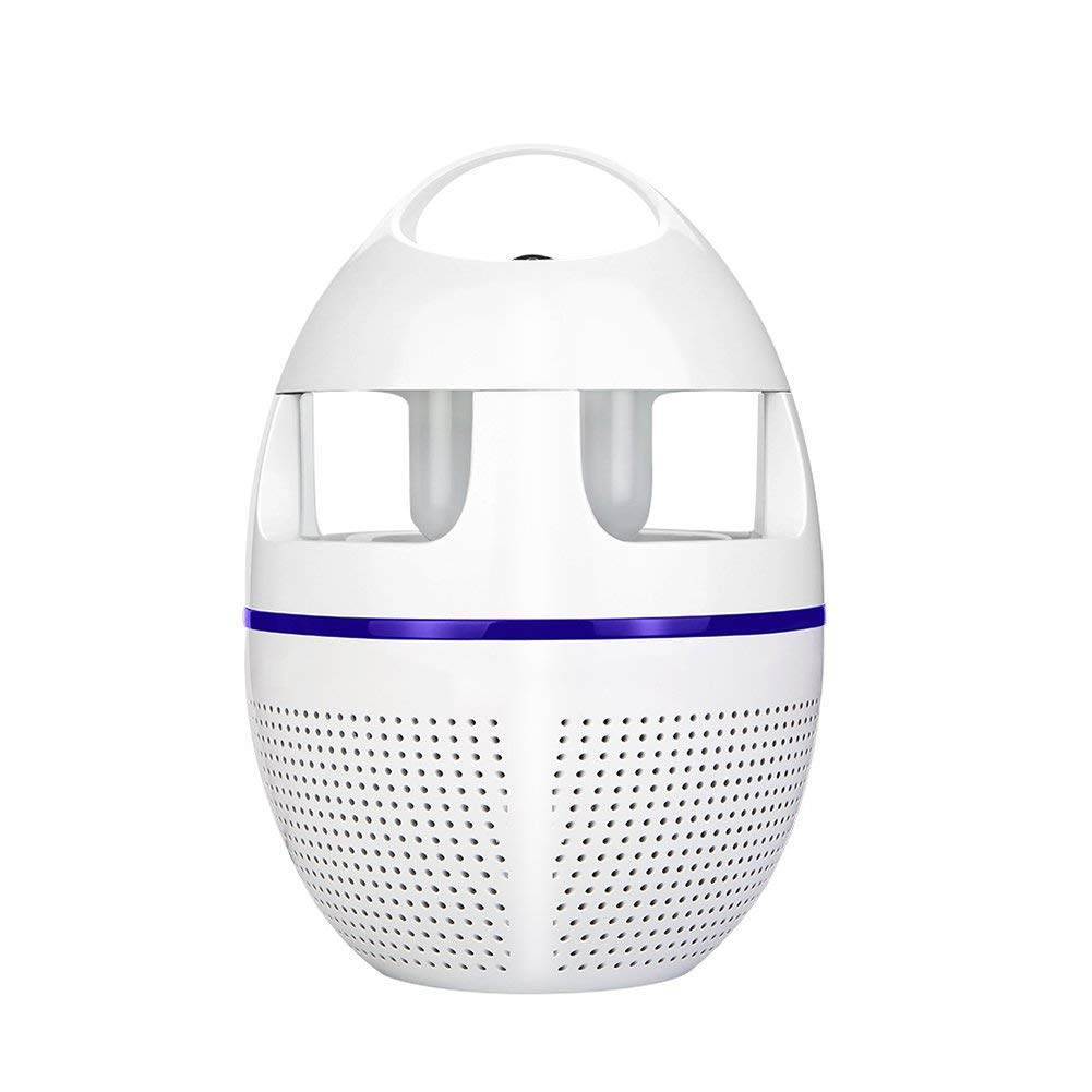 LIQICAI Mosquito Killer Lamp Portable UV Fly Trap Easy To Clean, Silent Energy Saving AC 110V~220V, For Indoor, Living Room, Φ75x205xΦ145mm (Color : White)