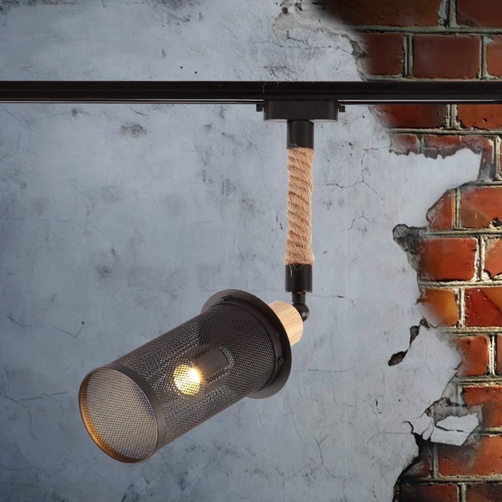 MGSD Spotlight, Spotlight LED Lights Clothing Store Retro Exhibition Living Room Background Wall Creative Bar Track Light E27 Maximum 40W Energy Efficiency A + A+ ( Size : B )