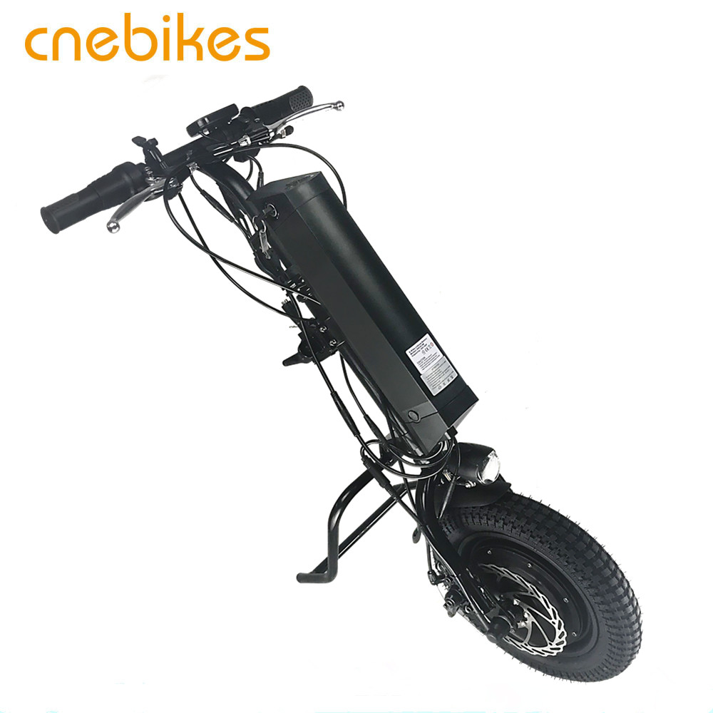 30km/h wheelchair attachment 36v 350w full wheel hub motor electric handcycle with 10.4ah battery
