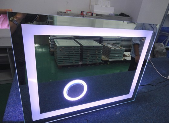Bathroom Lighted Flexible Colored Infinity Mirror Led