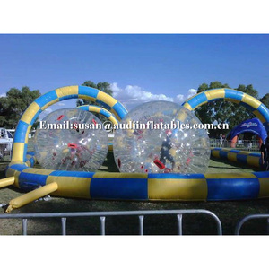 body bubble zorbing orbit inflatable grass zorbing with tracks