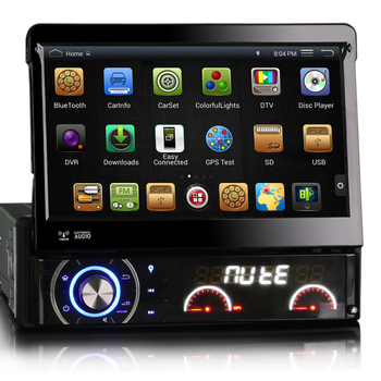 Winmark 7 Inch 1 Din Car DVD Player Stereo Retractable Touch Screen Android 44 Wifi 3G