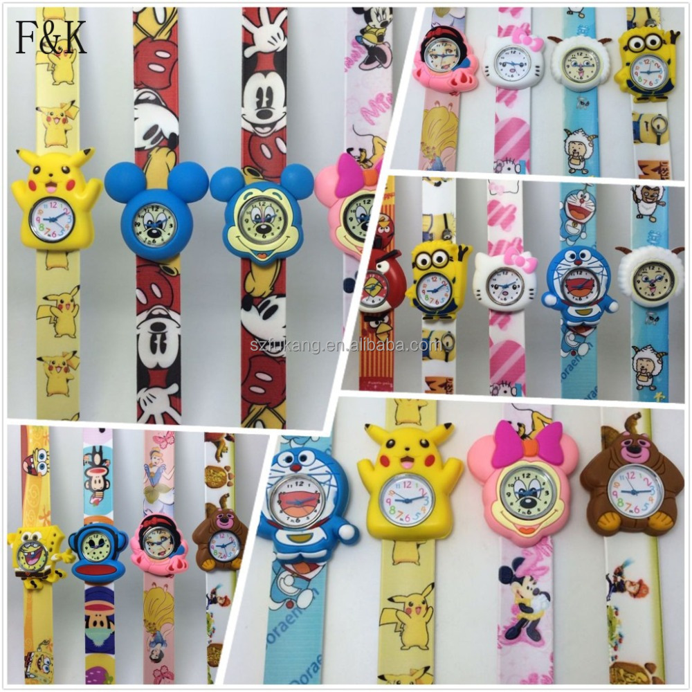Cute 3D carton intersting products silicone strap watch for kids