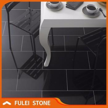 Polished Absolute Black Granite Tile Flooring Tiles Price ...