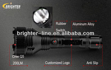 Attack Head Cree Q5 200Lumens Rechargeable Led Lenser Flashlight