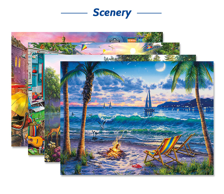 Wholesale Manufacturers Custom 1000 Piece Jigsaw Puzzles for Adults