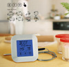 2017 Cute Design Square Touch Screen Digital Kitchen Thermometer With 9 Kinds Of Meat & Timer
