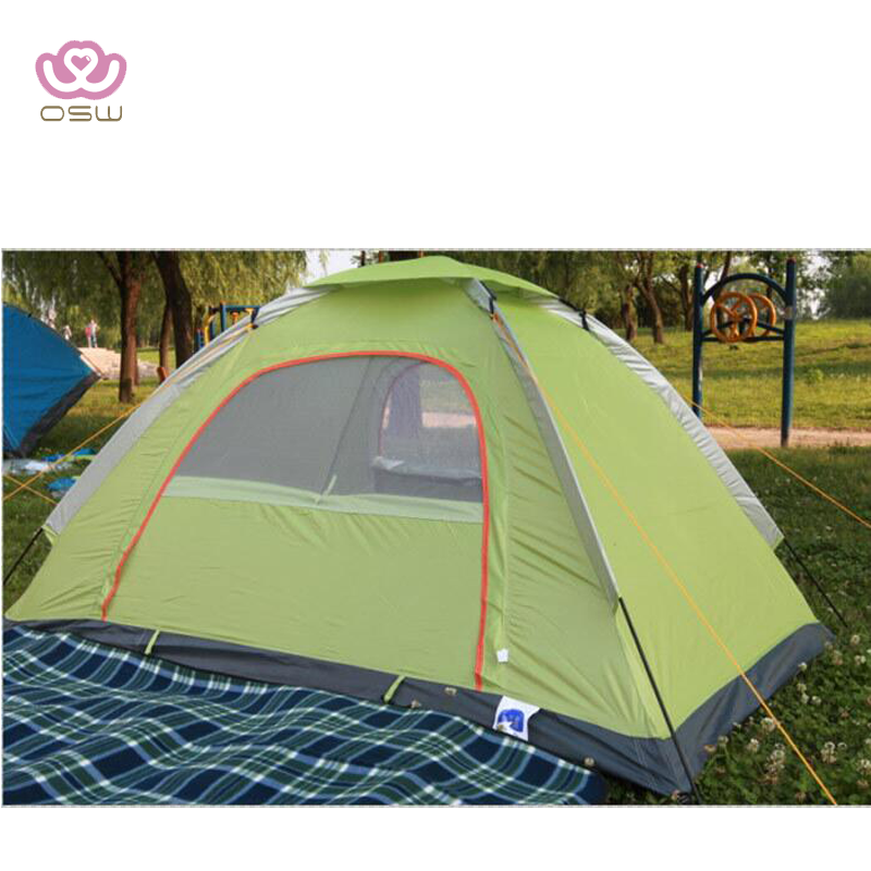 Hand set-up 1-2 person green camping tent outdoor & screen window design Portable Carrying Case Includes Stakes