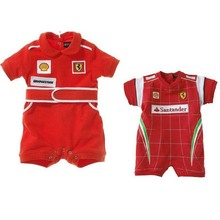 Boys Girls Sports Style Romper Toddler Suit Baby Summer Romper Two Styles Of Red Car Sliders