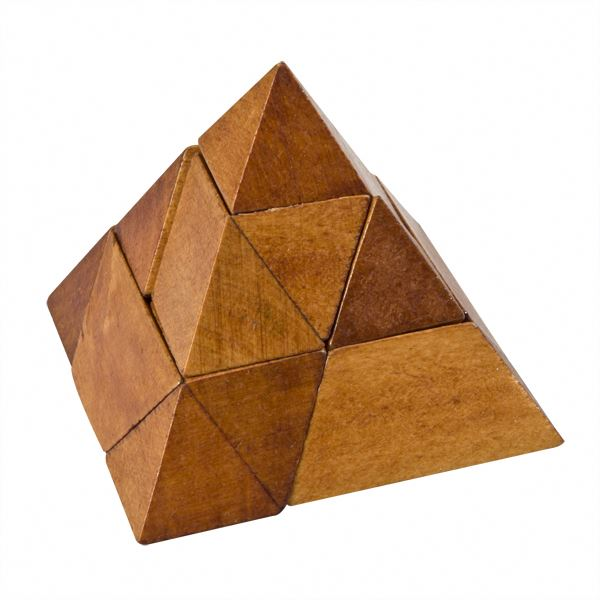 wooden Triangle pyramid pyramid collection PY4006
