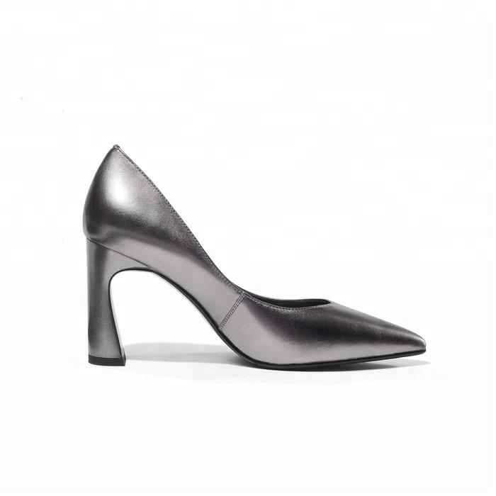 Chunky Pump Pointy Heel Pumps Dress Women's Block Toe 5RwX5Aq