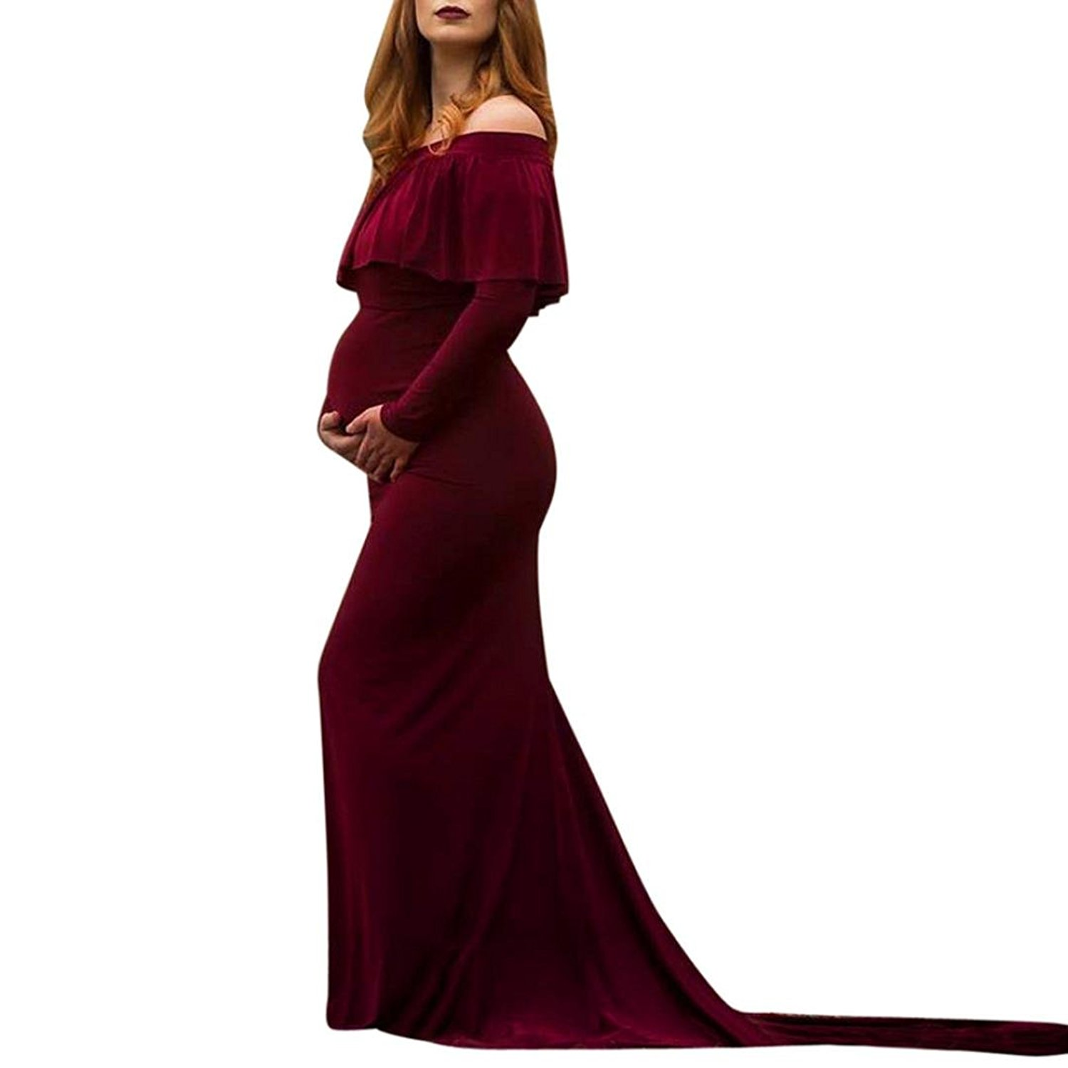 f0aaf7c535c Get Quotations · Taore Sexy Maternity Dress Sheer Lace Gown Short Sleeve  Maxi Photography Dress