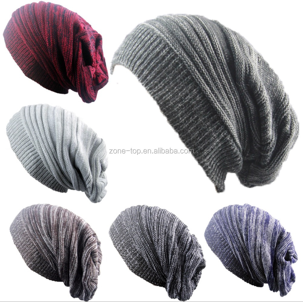 winter baggy plicate knit hat