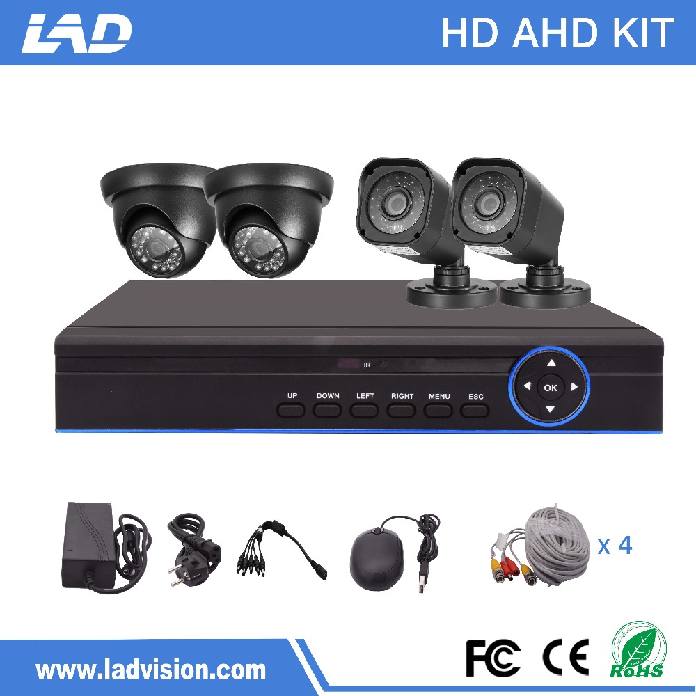 Cheap 4 Channel 720P DVR Kit CCTV Camera System for Home Security
