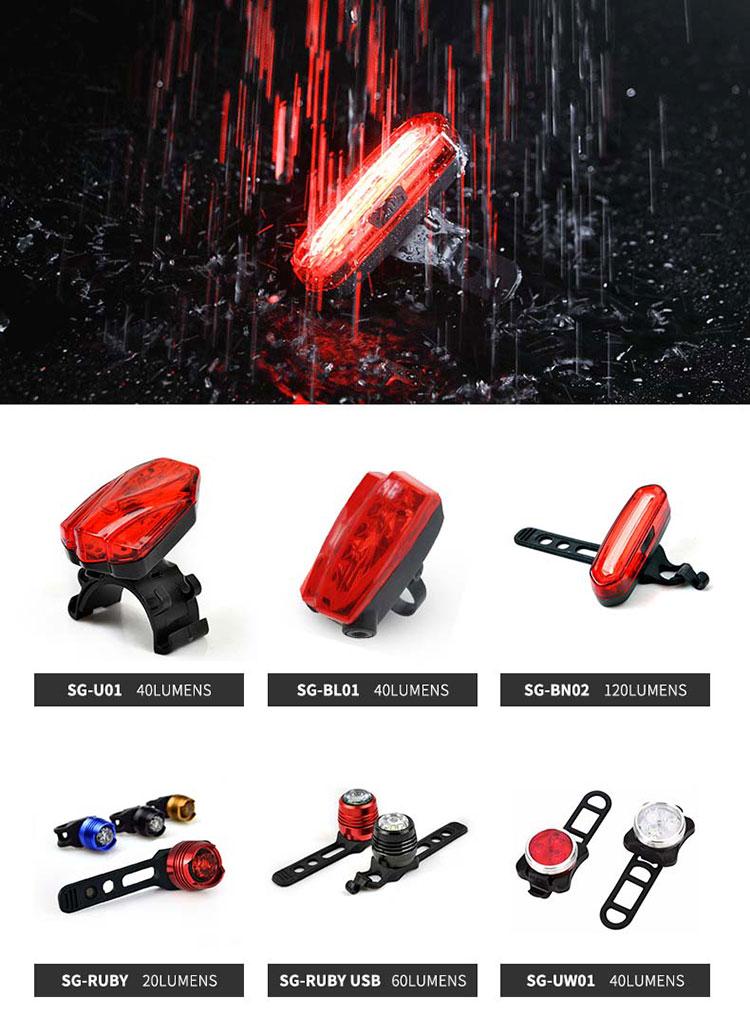 Stvzo-Accesorios de seguridad para Bicicleta, Mini lámpara Led de rubí para ciclismo, luces traseras, Accesorios para Bicicleta de fácil montaje