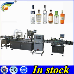 DOOR TO DOOR 100ml alcohol filling machine,glass bottle filler