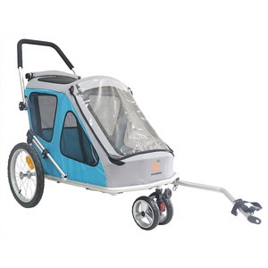 wholesale high quality 2 in 1 dog trolley foldable bicycle pet trailer  stroller