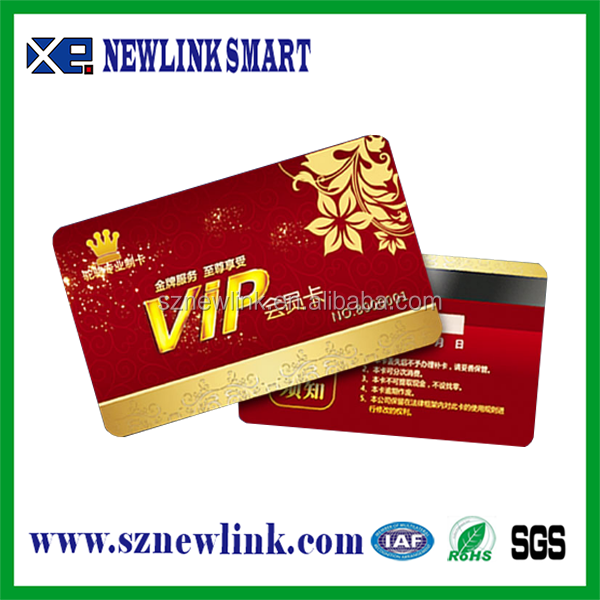 PVC signature strip card