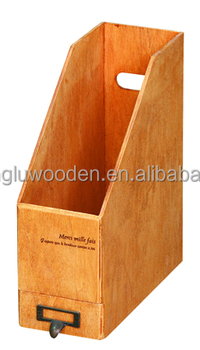 Wooden Magazine File Holders / Organizers For Document Files ...