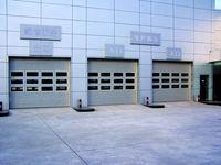 entry commercial garage door with windows/sectional garage door