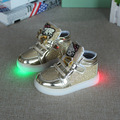 2016 New Children KT Cat Shoes With Flash LED Toddler Girls Light emitting Sneakers Girls Cartoon