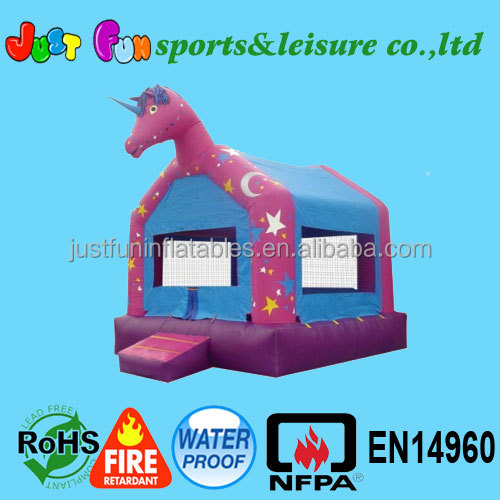 enchanted unicorn inflatable happy hop bouncer