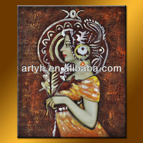 Beautiful Lady Figure Oil Painting For Decor