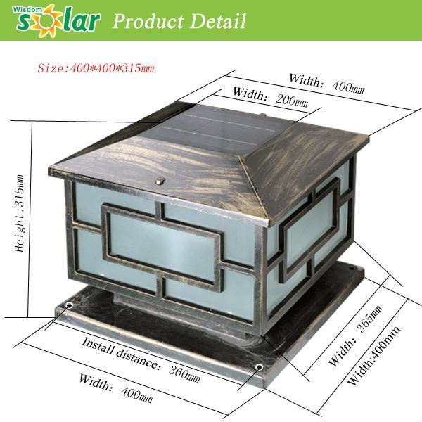 Hot Selling Aluminum Solar Fence Light,Solar Fence Gate Pillar ...