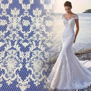 Bestway lace white cold lace sequin lace for bridal dress