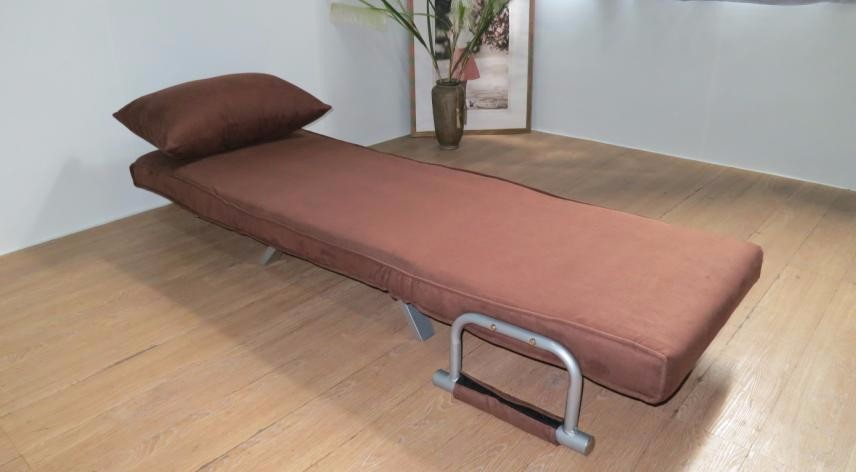 Full Steel Structure Futon Sofa Sleeper Microfiber Single Chair Folding Mini  Sofa Bed