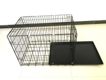 Pet Metal Cage Dog Cage kennel outdoor double doors folding dog cage with two doors dog kennels 8