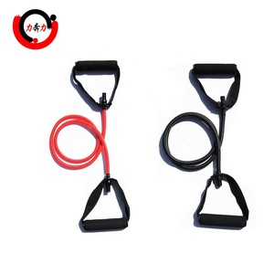 Fitness Resistance Band Rope Tube Elastic Exercise for Yoga Pilates Workout