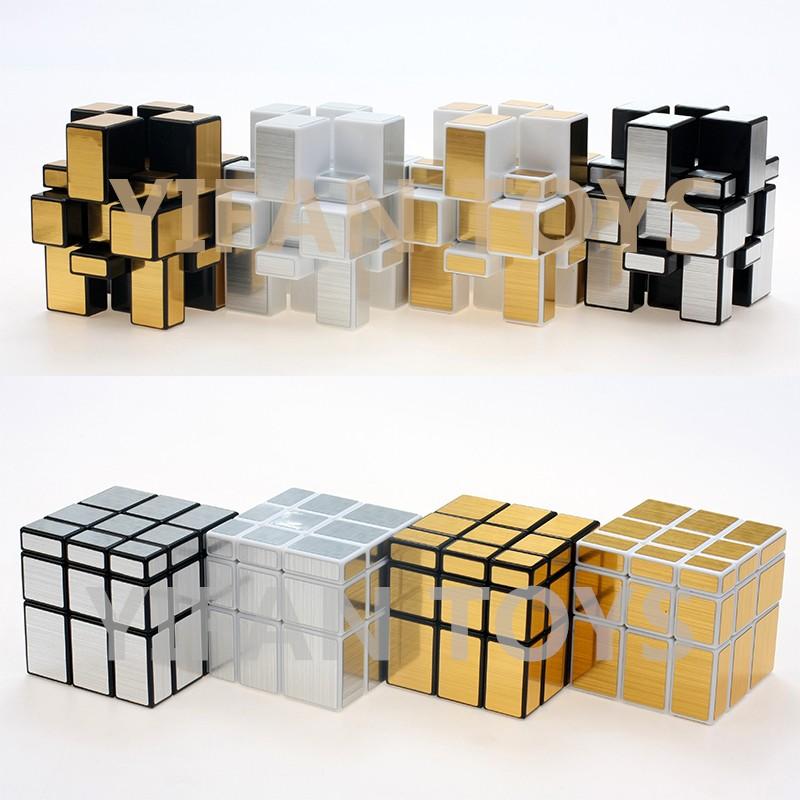 Y9831g 5.7cm Yongjun Silver Gold Stickerless Mirror Magic Cubes ...