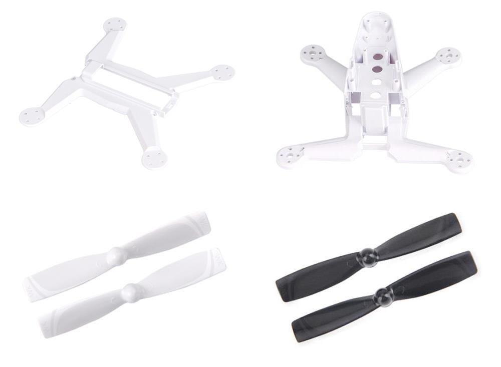 Walkera Rodeo 150 [QTY: 1] 150-Z-02(W) Fuselage White Body Frame [QTY: 1] 150-Z-04(W) Bottom Cover Fame Part [QTY: 1] 150-Z-01(B) Propellers Black Blades Main Rotors Props [QTY: 1] 150-Z-01(W) Propell
