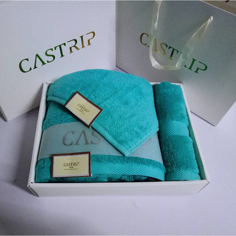 Promotion Gift 100% Cotton Plain Dyed Towel Set