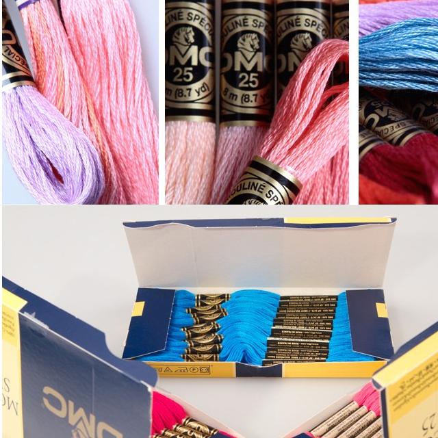 447 Pieces/bag Original French DMC Thread Embroidery Cross Stitch Floss Yarn Thread 8.7 Yard Length 6 Strands