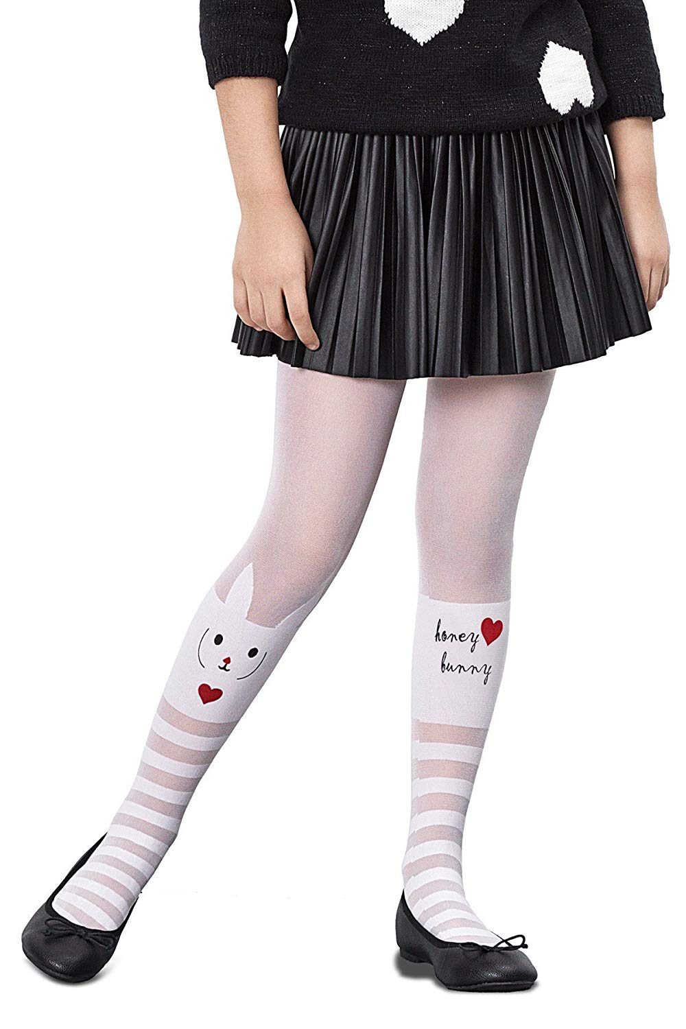 be601598bac72 Get Quotations · Penti Pretty Love Bunny 30 Den Girls Footed Tights