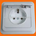 European style flush mounted schuko socket outlet IP44 wall socket (F7510)