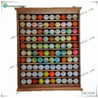 Solid Wood 100 Golf Ball Display Case Rack Wall YM4200W