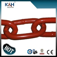 Red Painted Long Fishing Link Chain 9*53