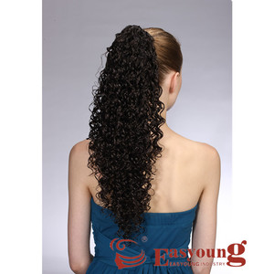 Synthetic curly ponytail hair extension afro curly hair for black women