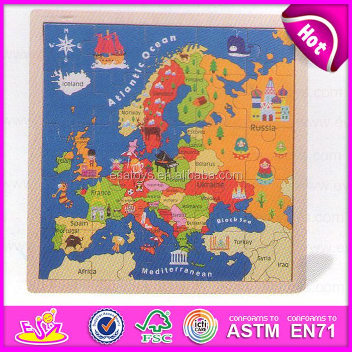 Montessori Europe Kids Puzzle MapsCustomized Children Wooden Map - Map of europe for children